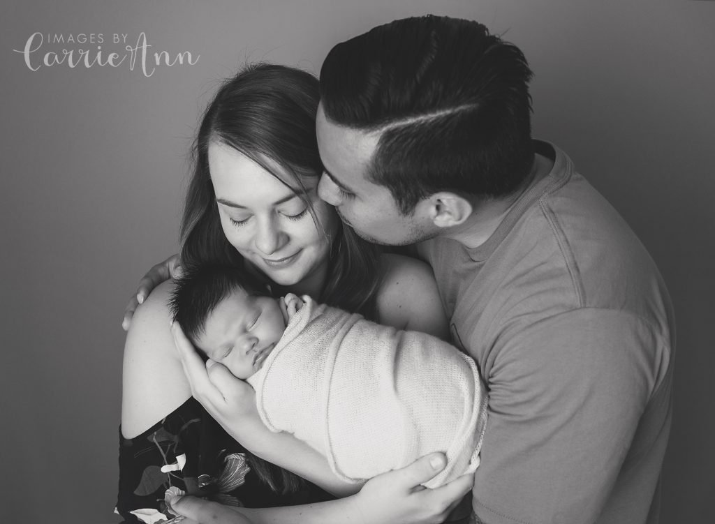 Family and newborn poses