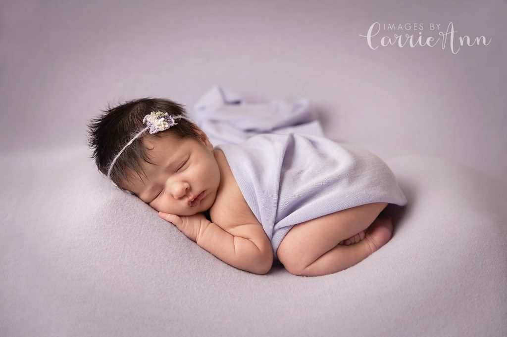 asian newborn baby with lots of hair